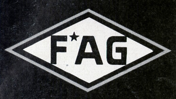The FAG brand - an acronym for Fischers Aktiengesellschaft (Fischer's Stock Corporation) - is registered in Germany.